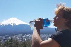 Felix in front of Mt. Fuji